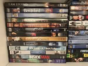 78 Movies Collection (DVD, Blue-ray) with DVD Player for Sale in Lynnwood, WA