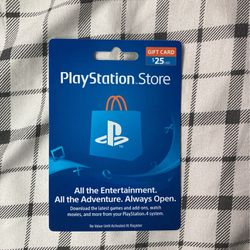 25 Dollar PlayStation Store Gift Card for Sale in Santa Fe Springs,  CA