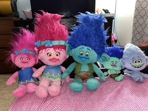 Trolls plushies for Sale in Vancouver, WA