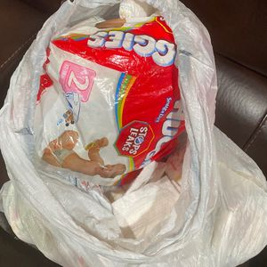 Bag Of Size 1 & 2 Diapers Huggies for Sale in Compton, CA