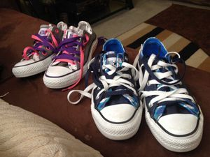 All stars converse shoes 3 mens or 5 girls for Sale in Nashville, TN