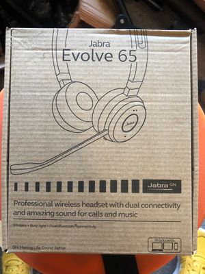 Jabra Evolve 65 wireless headset for Sale in West Jordan, UT