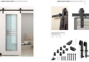 SLIDING DOOR CHICAGO SYSTEM BLACK (for Glass and Wood) for Sale in Kissimmee, FL