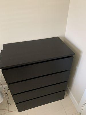 Black 4 Drawer Dresser for Sale in Pompano Beach, FL