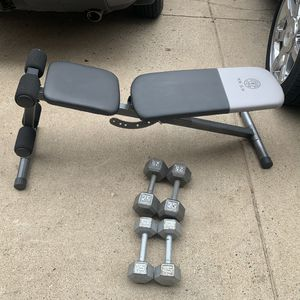 Bench and weights 130 or best offer for Sale in Manassas, VA