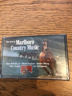 The best of Marlboro country music cassette tape.. factory sealed for Sale in Decatur, IN