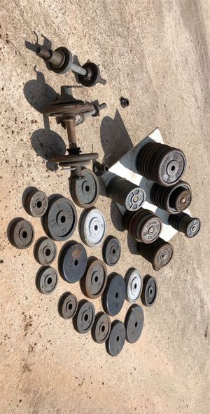 Iron weight set for Sale in Clodine, TX