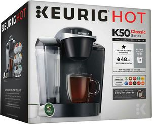 Keurig K-Classic K50 Single Serve, K-Cup Pod Coffee Maker, Black for Sale in New York, NY
