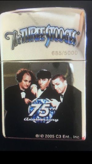 NEW in box never used 75th anniversary Three Stooges Zippo lighter—#685 of 5000 Super cool limited edition ZIPPO lighter Price is LOW and FIRM, pl for Sale in Los Angeles, CA