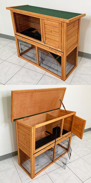 """New $95 Wooden 44x17x36"""" Rabbit Hutch Pet Cage with Run Asphalt Roof Bunny Small Animal House for Sale in South El Monte, CA"""