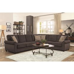Brand New Brown Kendrick Sectional with Memory Foam Sleeper🗣 for Sale in Cumming,  GA