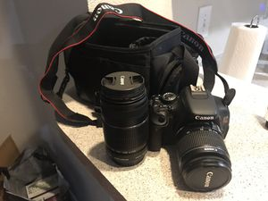 Canon t3i dslr with kit lens and 55-250mm lens for Sale in Denver, CO