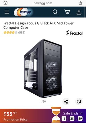 Fractal Design - Focus G ATX Mid Tower Case - USED - For Gaming PC for Sale in Raleigh, NC