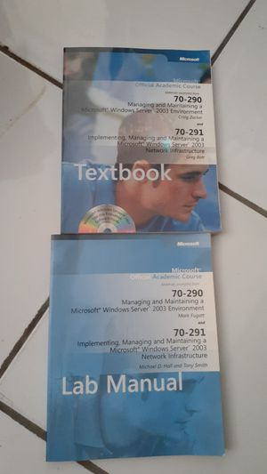 Book, microsoft oficial course 70-290 for Sale in Hialeah, FL