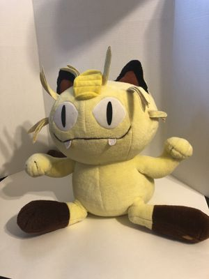 "16"" POKEMON Meowth Giant Plush Stuffed Animal Doll Hasbro Tomy Jumbo 1999 for Sale in Port Charlotte, FL"