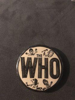 THE WHO BUTTON  for Sale in Rialto, CA