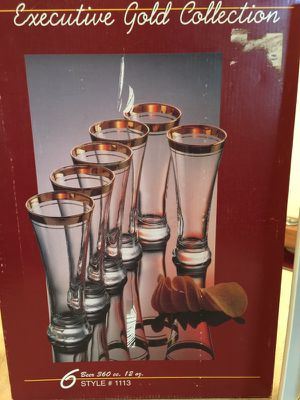 Pasabahce Executive Gold Collection Beer Glass for Sale in Chantilly, VA
