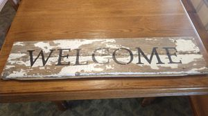 """Rustic """"WELCOME"""" sign for Sale in Marion, IN"""