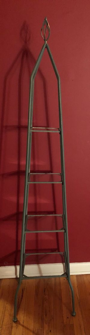 "Cast Iron 60"" Decorative Rack with Glass Shelves for Sale in Bloomfield, NJ"