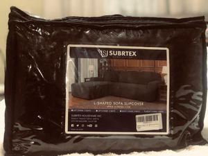 Subrtex 2 Pieces L Shape Sectional Sofá cover( 50.00 for Sale in Merced, CA