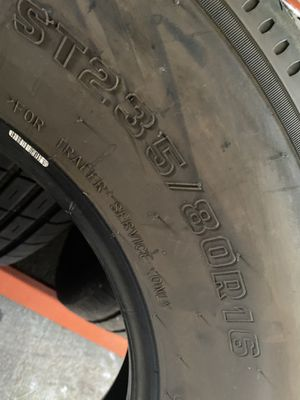 ST235/80/16 Trailer (2 Tires) Like New $100.00/ Both for Sale in Mission Viejo, CA
