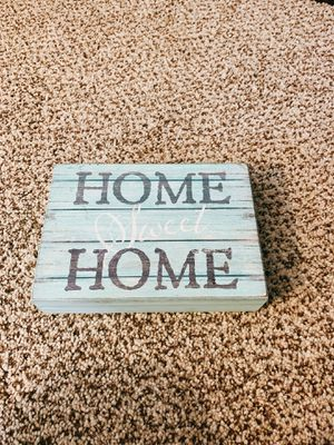 Turquoise home sweet home sign for Sale in Riverside, CA