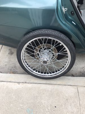 Harley Davidson rim with tire for Sale in La Habra, CA