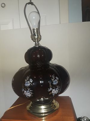 Vintage Mid Century Glass Lamp for Sale in Dittmer, MO