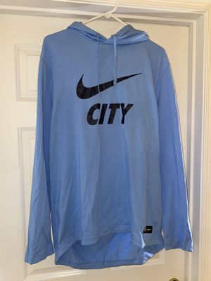 Nike Manchester City Hoodie Light Blue size XL for Sale in Manassas, VA