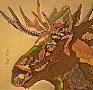 """ Abstract Moose"" Art print for Sale in Lake Wales, FL"