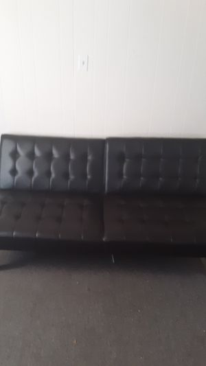 Black leather futon for Sale in Putnam, CT
