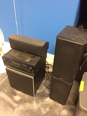 Polk audio speakers and sub and Onkyo receiver. for Sale in Chandler, AZ