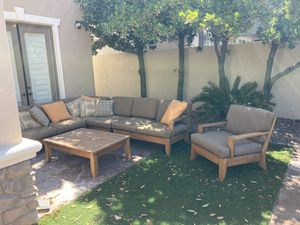 Outdoor sectional and Chair for Sale in Las Vegas, NV