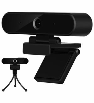 Webcam with Microphone, HD 1080P Webcam with Privacy Cover and Tripod, USB Computer Camera with Wide View Angle, PC Desktop Webcam for Video Calling for Sale in Quitman, TX