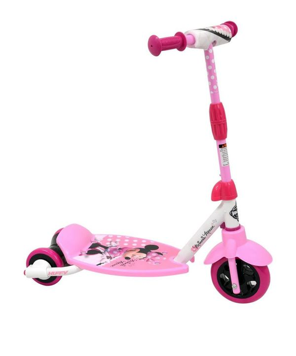 Huffy Disney Minnie 3-2-grow Scooter, Pink - Easy Adjust Handlebar