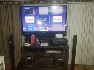 LG 65 in tv, with speakers, and Dvd for Sale in Germantown, MD