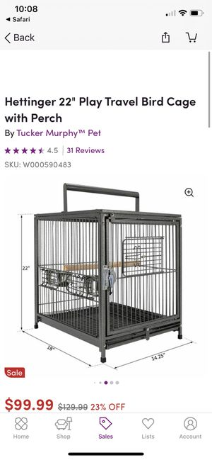 Traveling bird cage for Sale in Norridge, IL