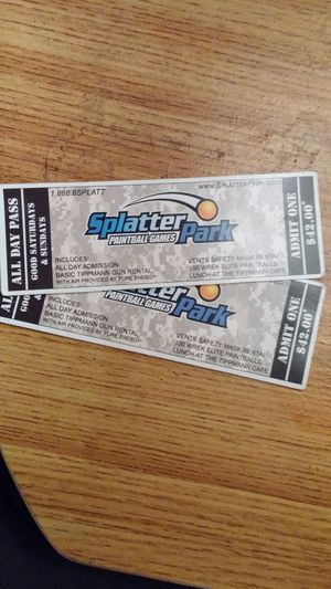 Splatter park tickets for Sale in Columbus, OH