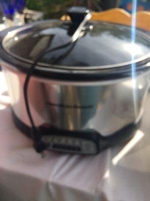 Silver Hamilton beach crockpot for Sale in Gladstone, OR