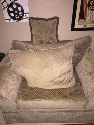 Couch and Oversized Chair for Sale in Glennville, GA