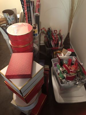 Free wrapping paper, tissue, gift bags & gift boxes for Sale in Cary, NC