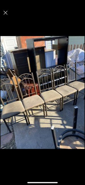 Five medal chairs for Sale in Middletown, OH
