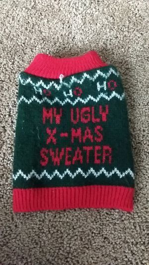 XS Pet Christmas Sweater for Sale, used for sale  Glendale, AZ