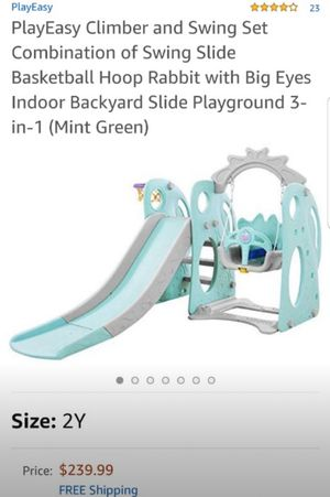 PLAY SET WITH SWING AND SLIDE for Sale in Riverside, CA