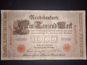 Antique 1910 German Reichsbank note for Sale in Bingham, ME