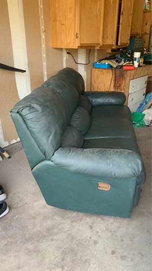 Leather couch for free! for Sale in Chico, CA