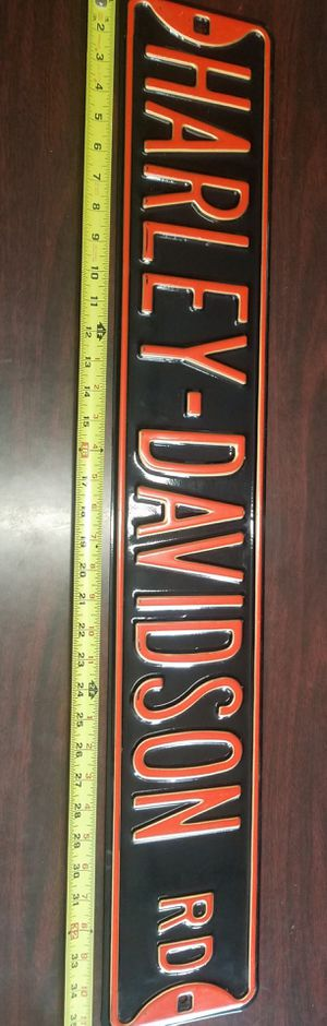Large hanging wooden Harley Davidson sign brand new condition for Sale in Morton Grove, IL