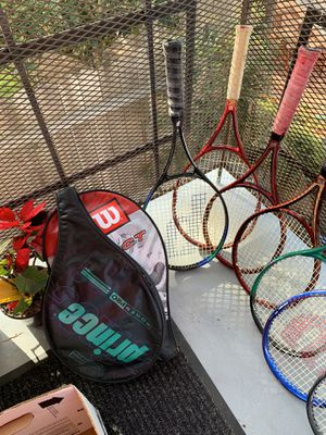 7 Different Tennis Rackets. Grips 4 3/4 and 4 1/2. Each $15or make offer for all for Sale in Torrance, CA