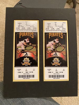 Autographed Jack Wilson 2004 Pirates tickets for Sale in Presto, PA