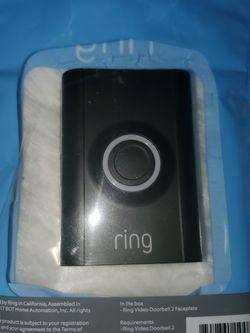 Interchangeable Faceplate (for Ring Video Doorbell 2) - Black for Sale in Hampton,  VA